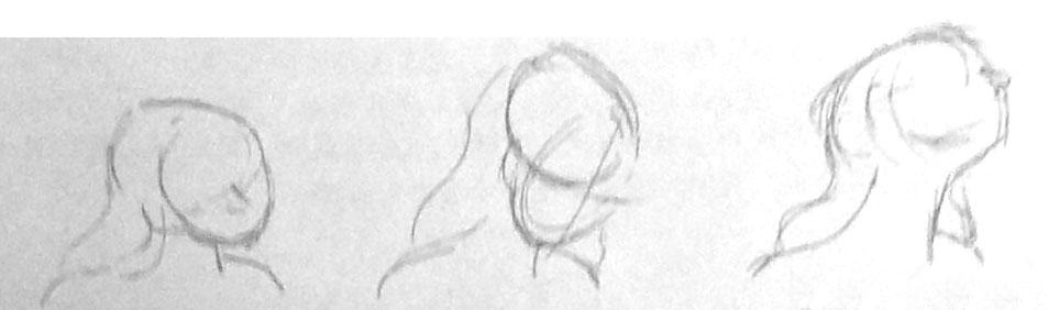 上海式发型手绘